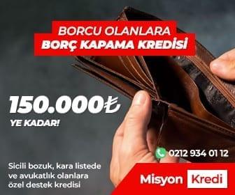 misyonkredi borç kapama kredisi
